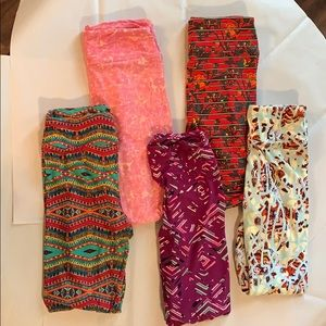 LuLaRoe Leggings Bundle of 5 in pictures One Size